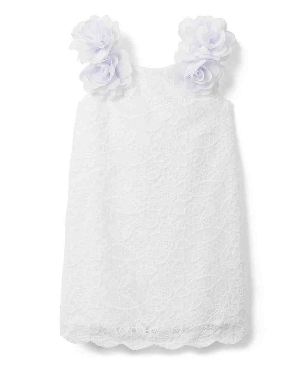 summer flower girl outfit white dress