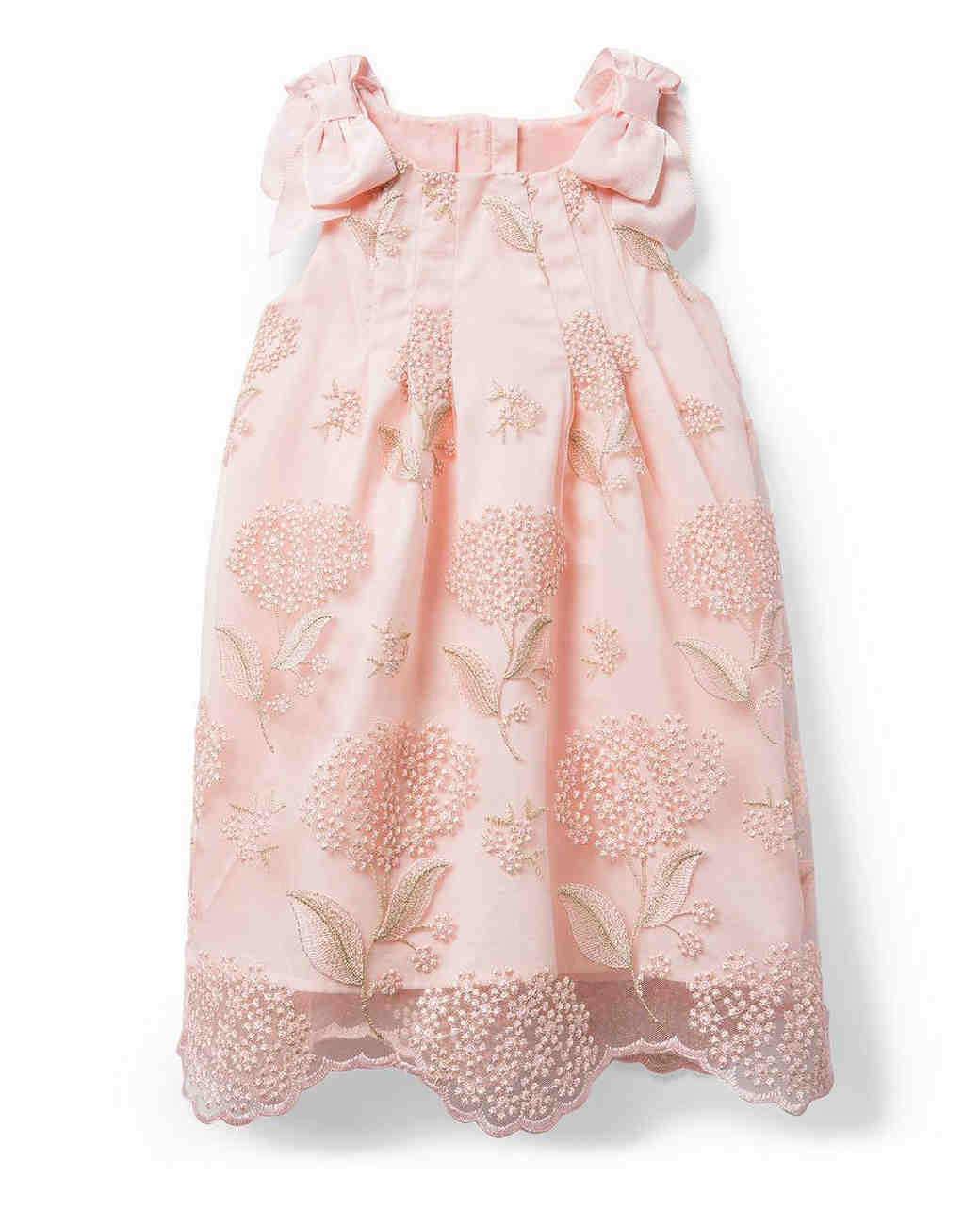 summer flower girl outfit pink embellished dress