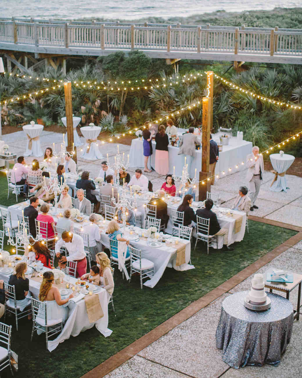 Guests Seated at Outdoor Reception
