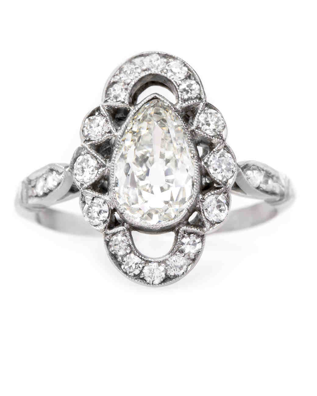 Trumpet & Horn Pear-Cut Engagement Ring