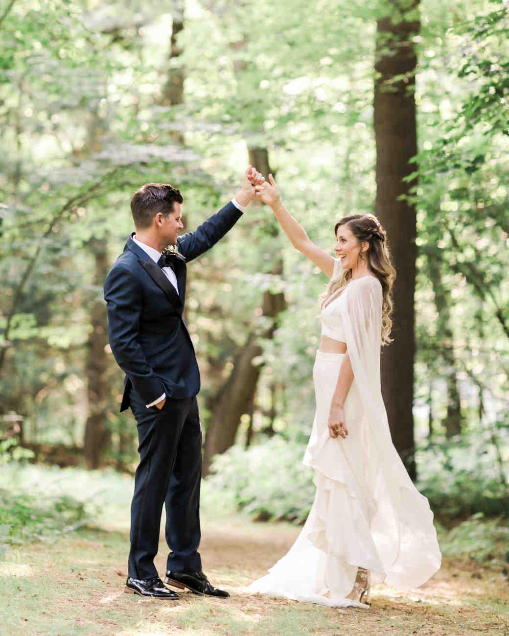 vanessa steven wedding couple hands in air