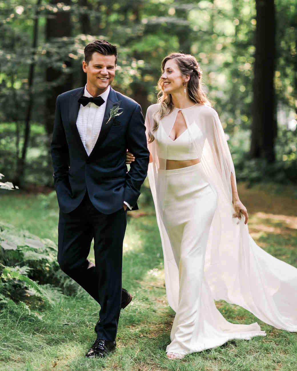 vanessa steven wedding couple walk stroll