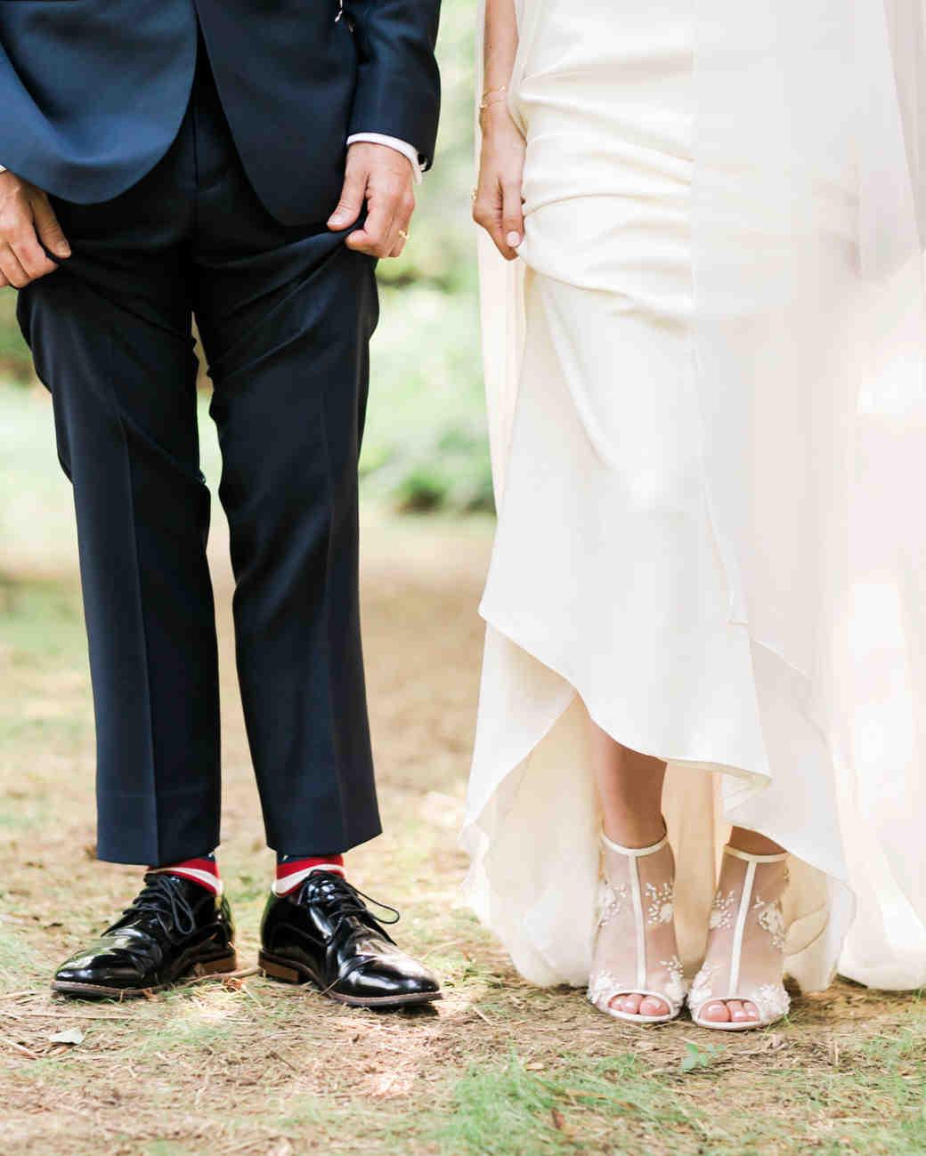 vanessa steven wedding shoes ceremony