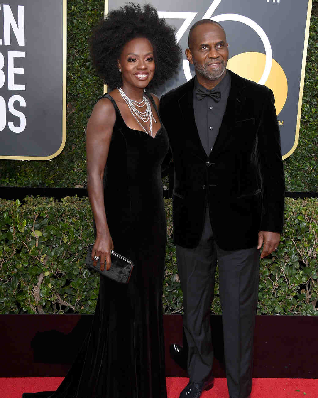 Viola Davis and Julius Tennon 2018 Golden Globes