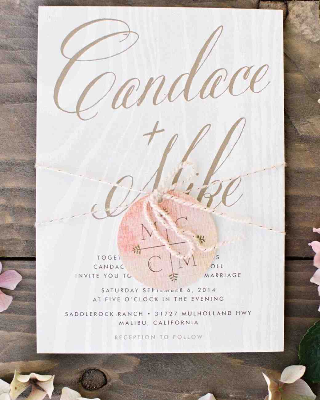 The Loveliest Watercolor Wedding Invitations | Martha Stewart Weddings