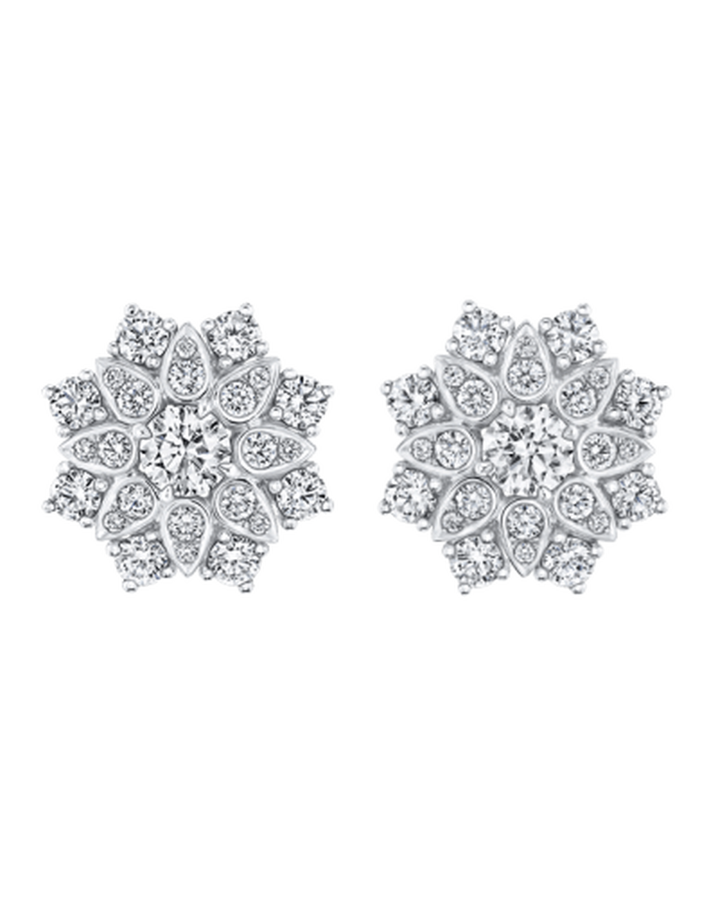 Wedding Earrings For Every Bride Harry Winston Lotus Cer Diamond