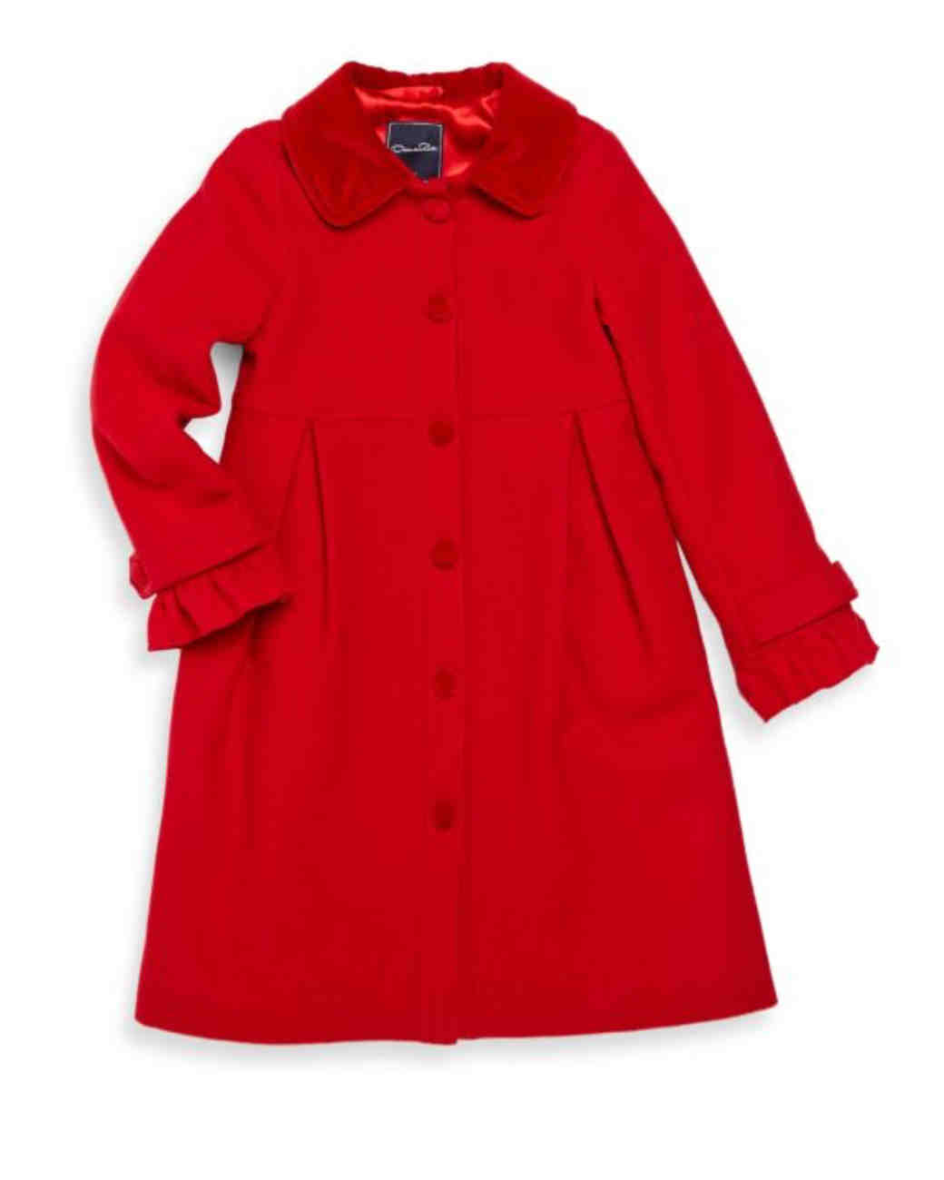 red flower girl button down dress