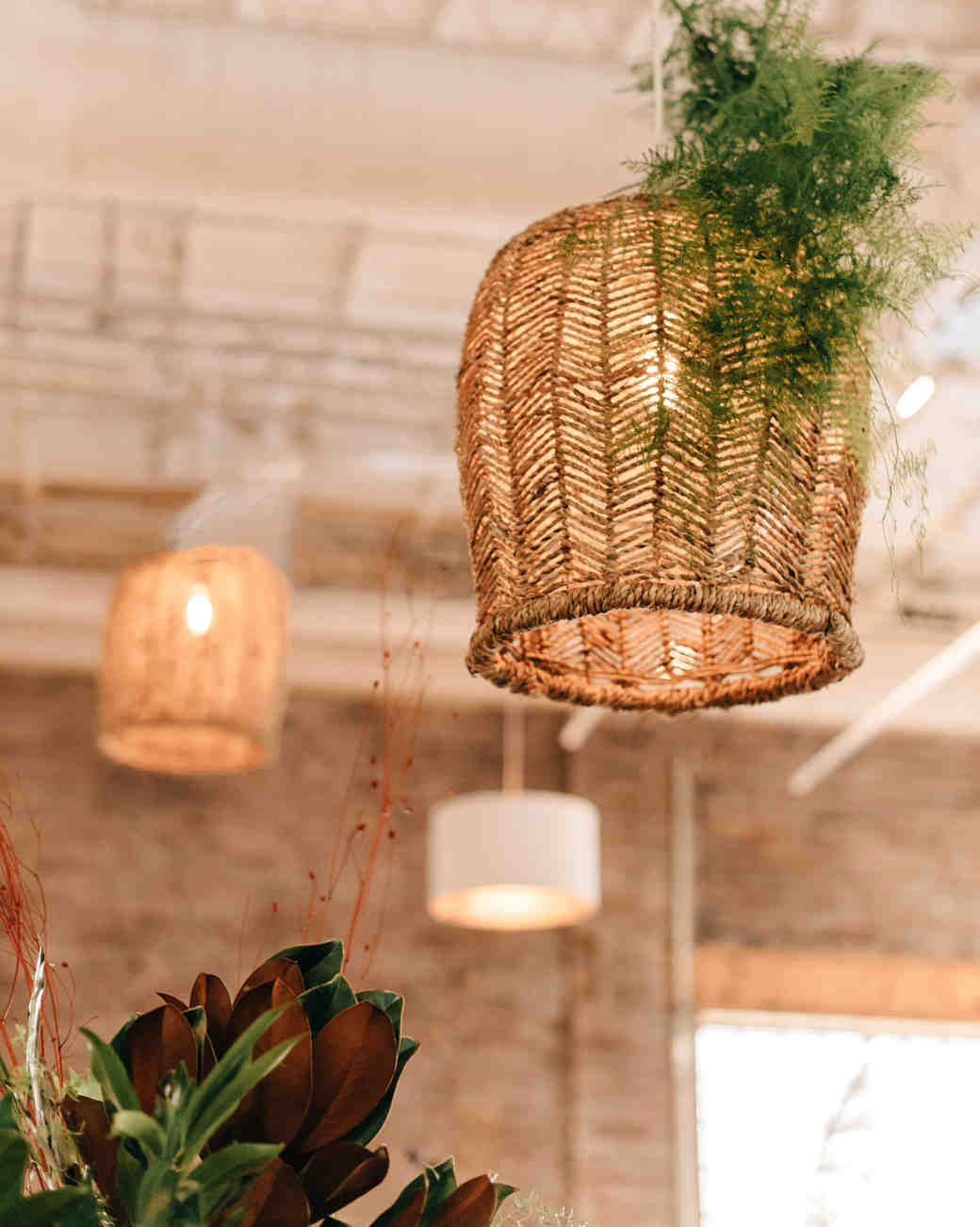 woven rattan wedding decor lighting fixtures
