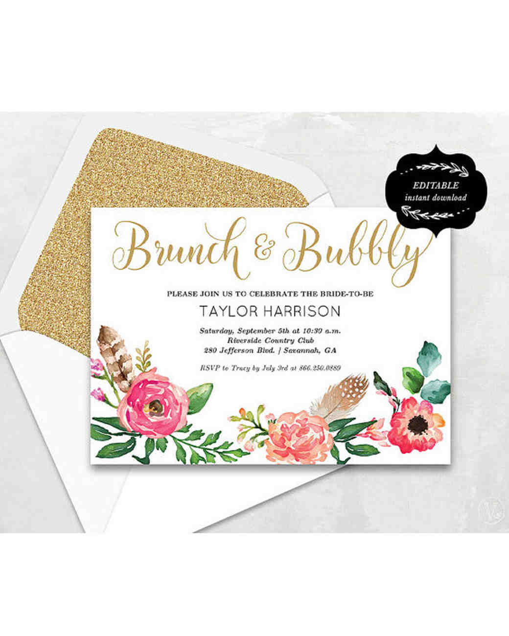 10 Affordable Bridal Shower Invitations You Can Print at Home ...