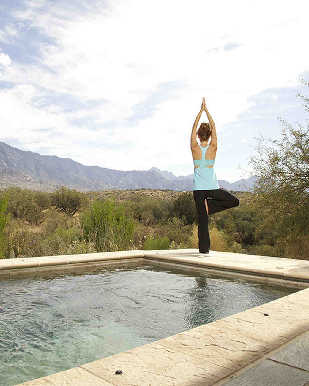 Yoga bachelorette retreat in the desert