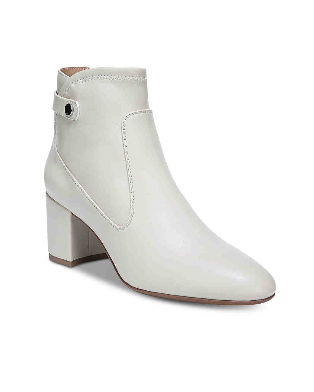 white bridal booties franco sorto newton block heel