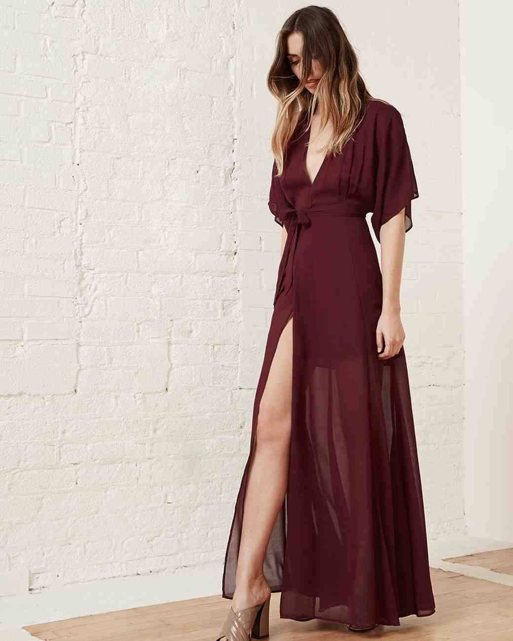 "burgundy bridesmaid dress – Reformation ""Winslow"" Dress"