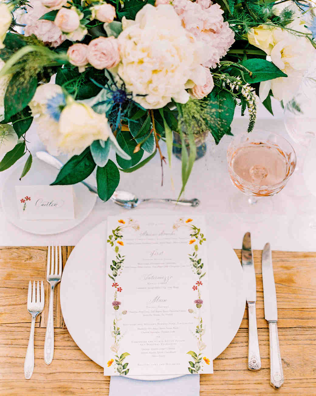 caitlin amit wedding place setting