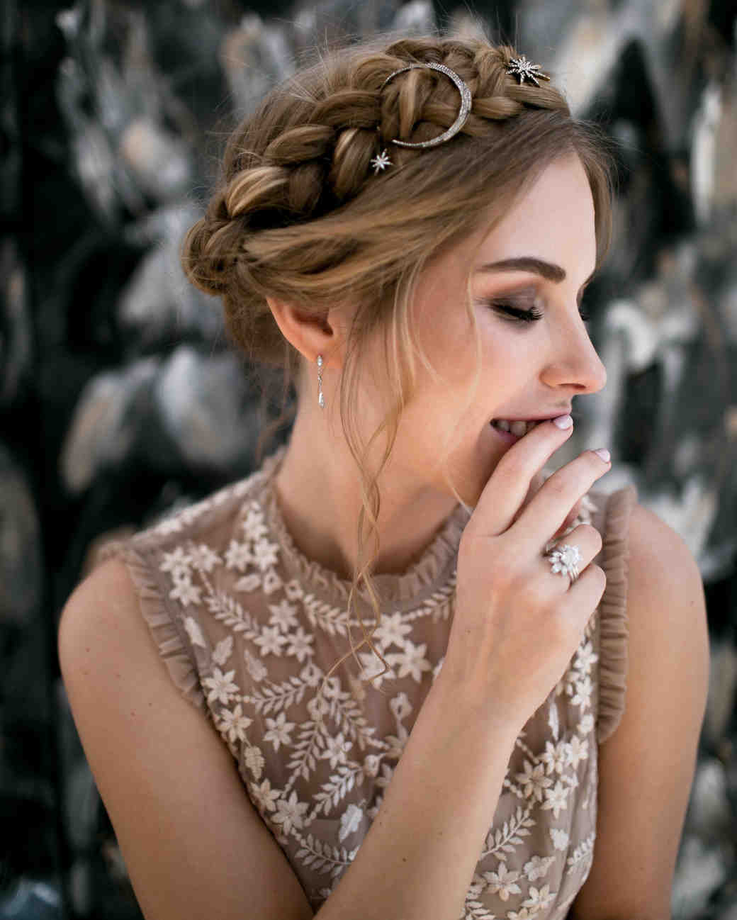 Celestial Wedding Hair Details