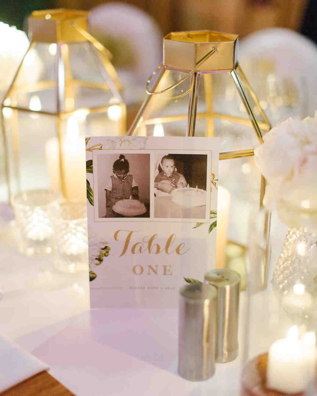 chloe shayo south africa couple reception table number photos lanterns candles