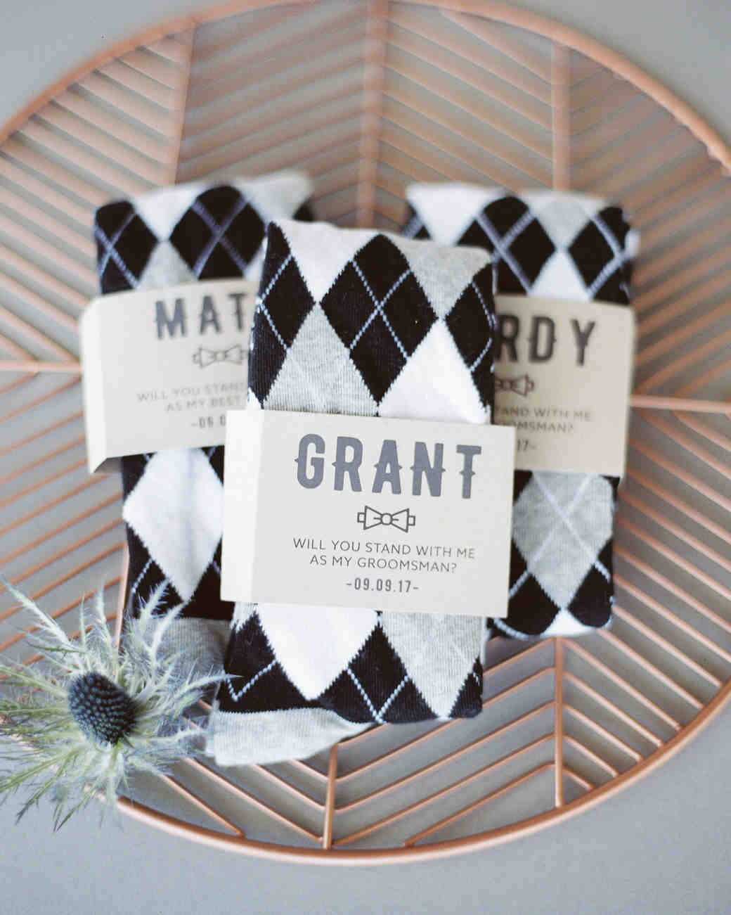 cool groom accessories argyle socks personalized labels