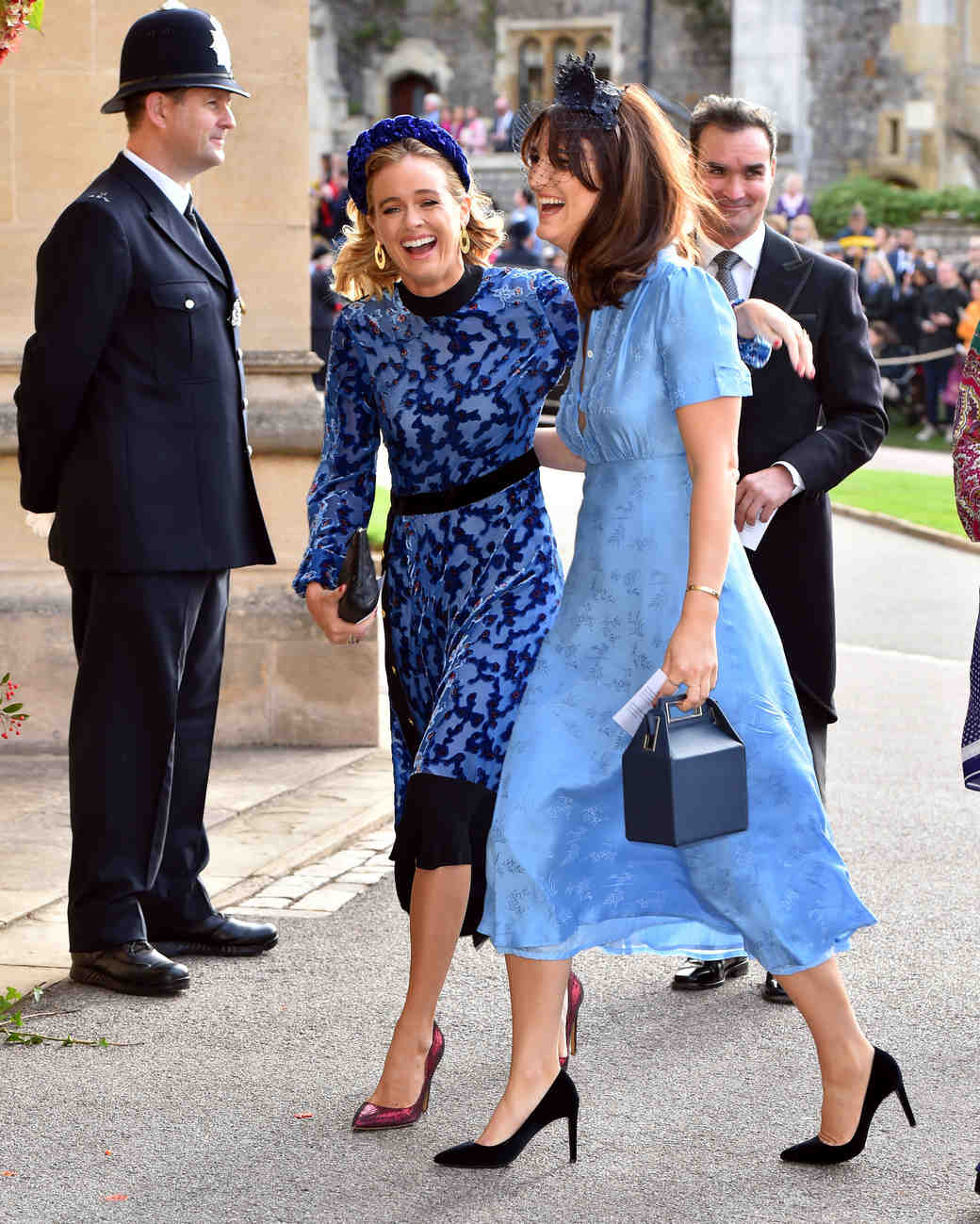 cressida bonas arrives at the royal wedding of princess eugenie