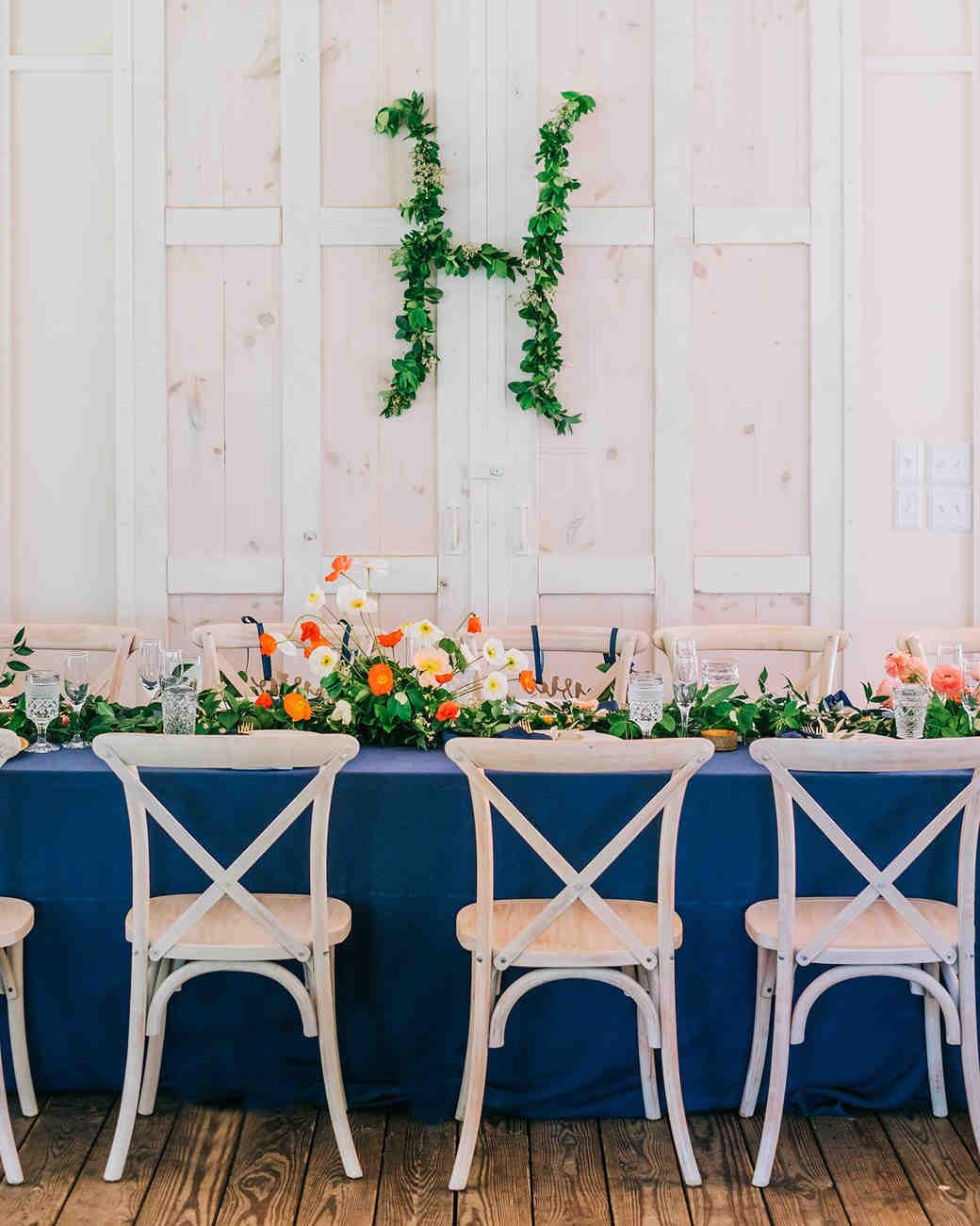 elizabeth jake georgia wedding reception monogram
