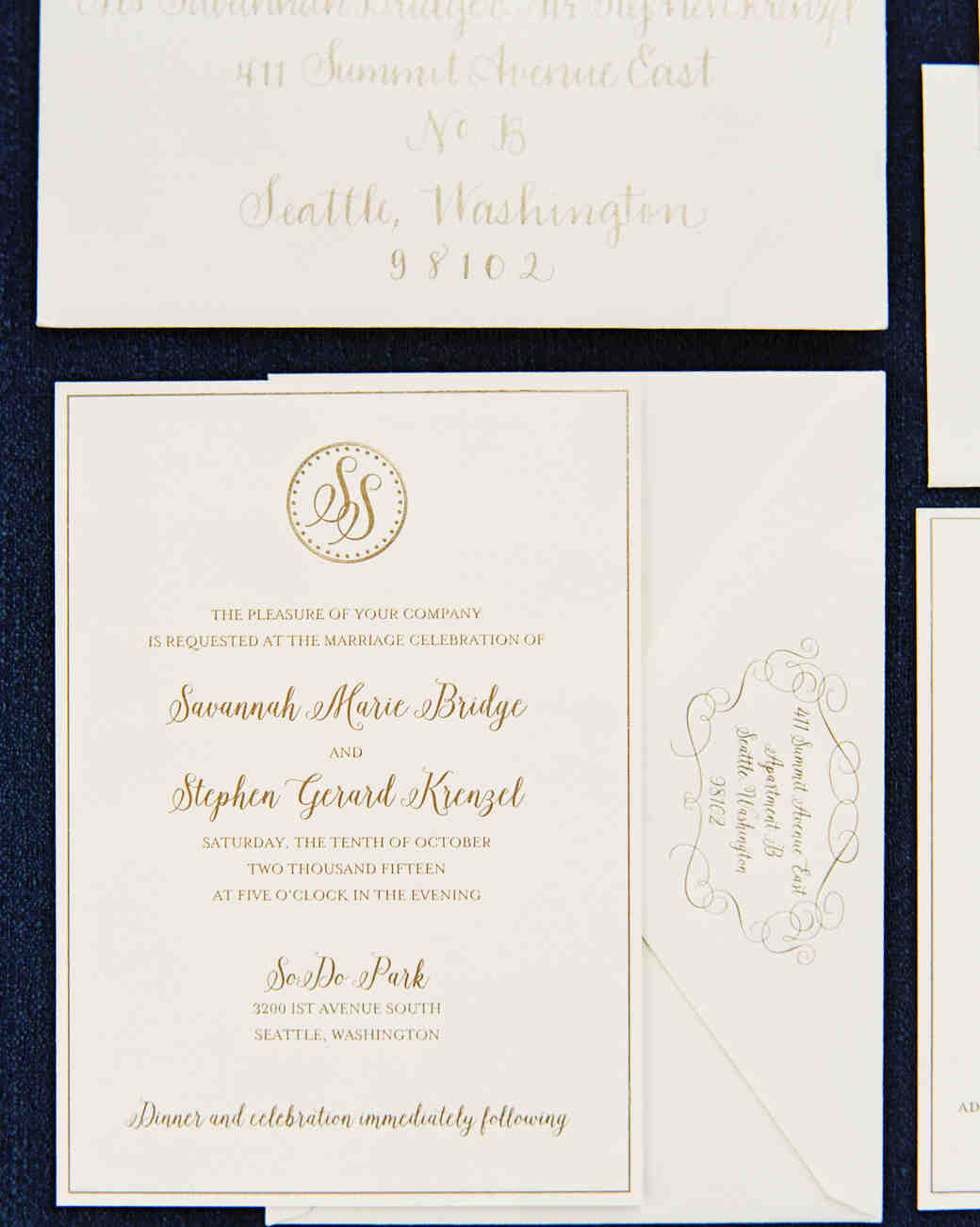 Fall Wedding Invitations from Real Weddings Martha Stewart Weddings