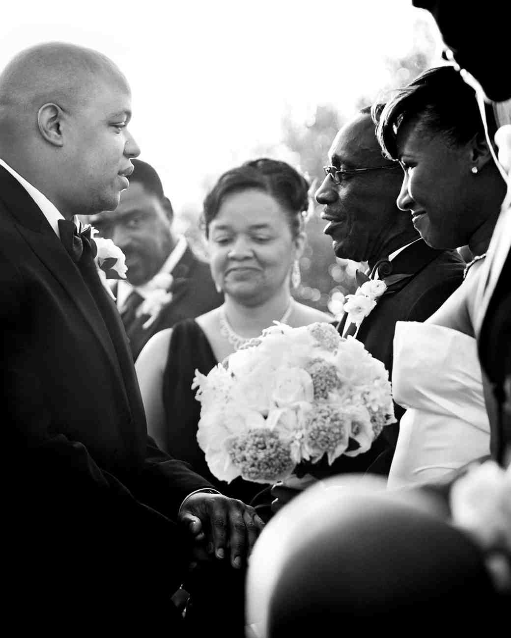 bride and father moment