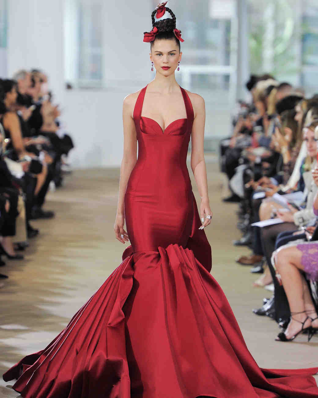 ines di santo red trumpet wedding dress spring 2018