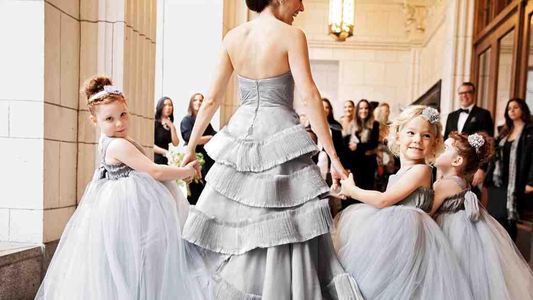 jess todd wedding seattle flowergirls