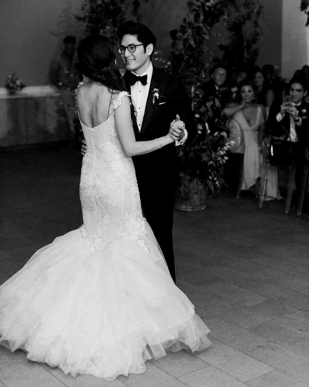 texas wedding black white first dance