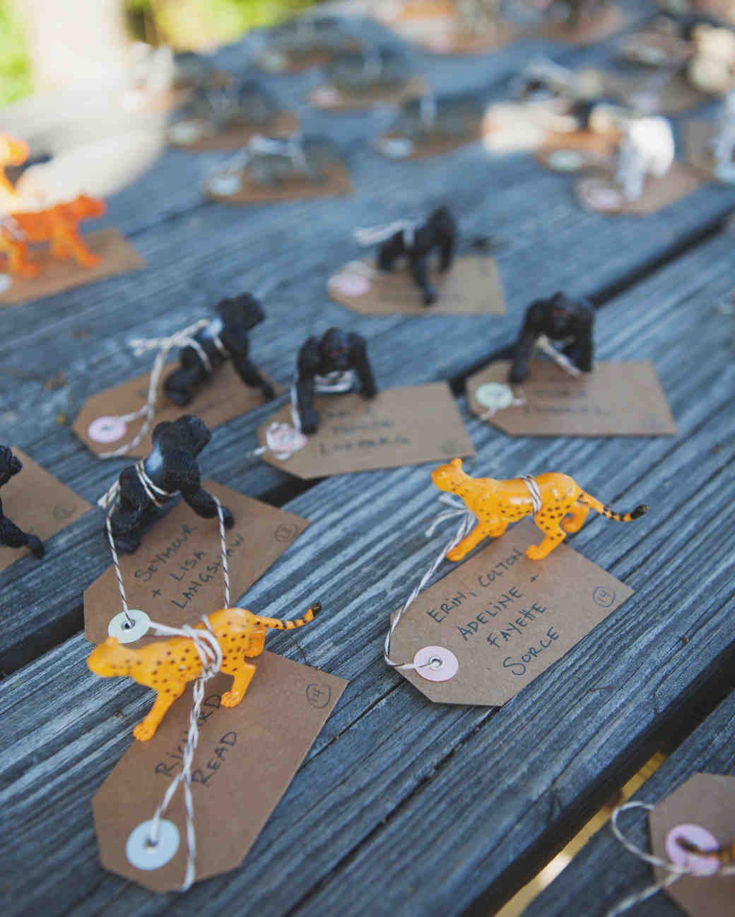 Animal Toy Escort Cards