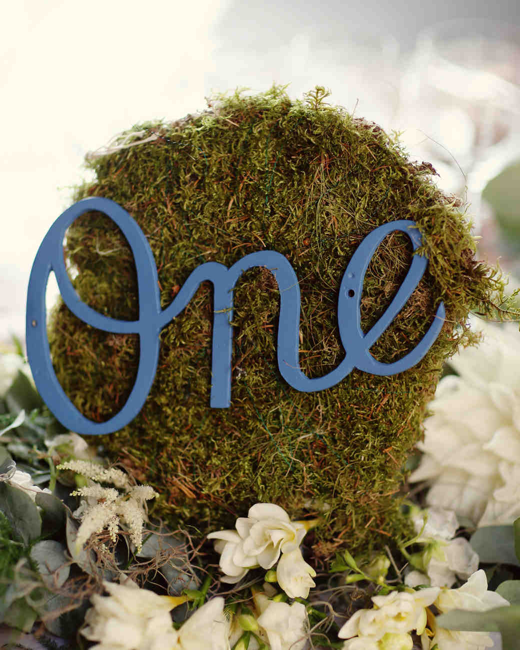 moss wedding table number