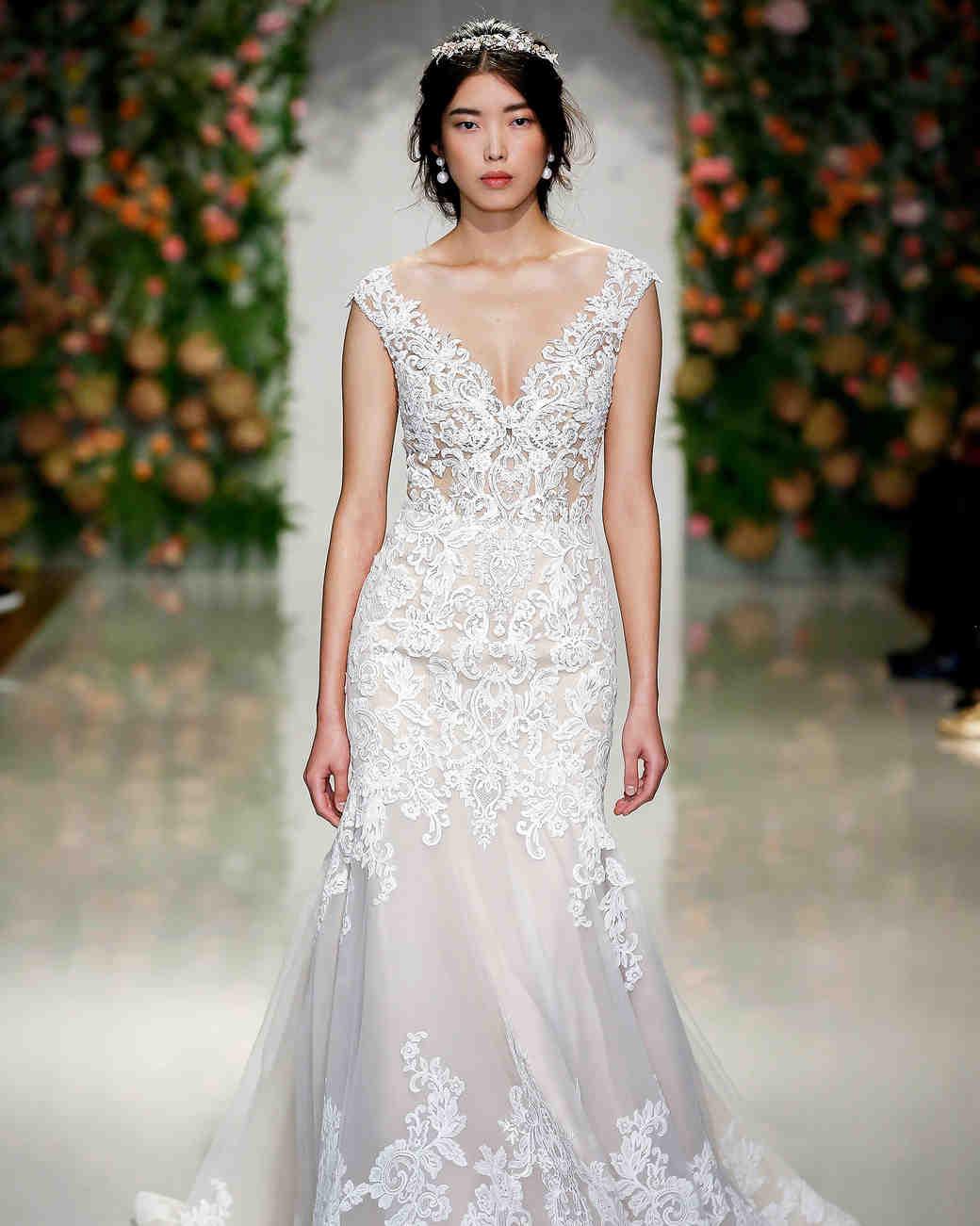 morilee madeline gardner wedding dress lace overlay cap sleeves