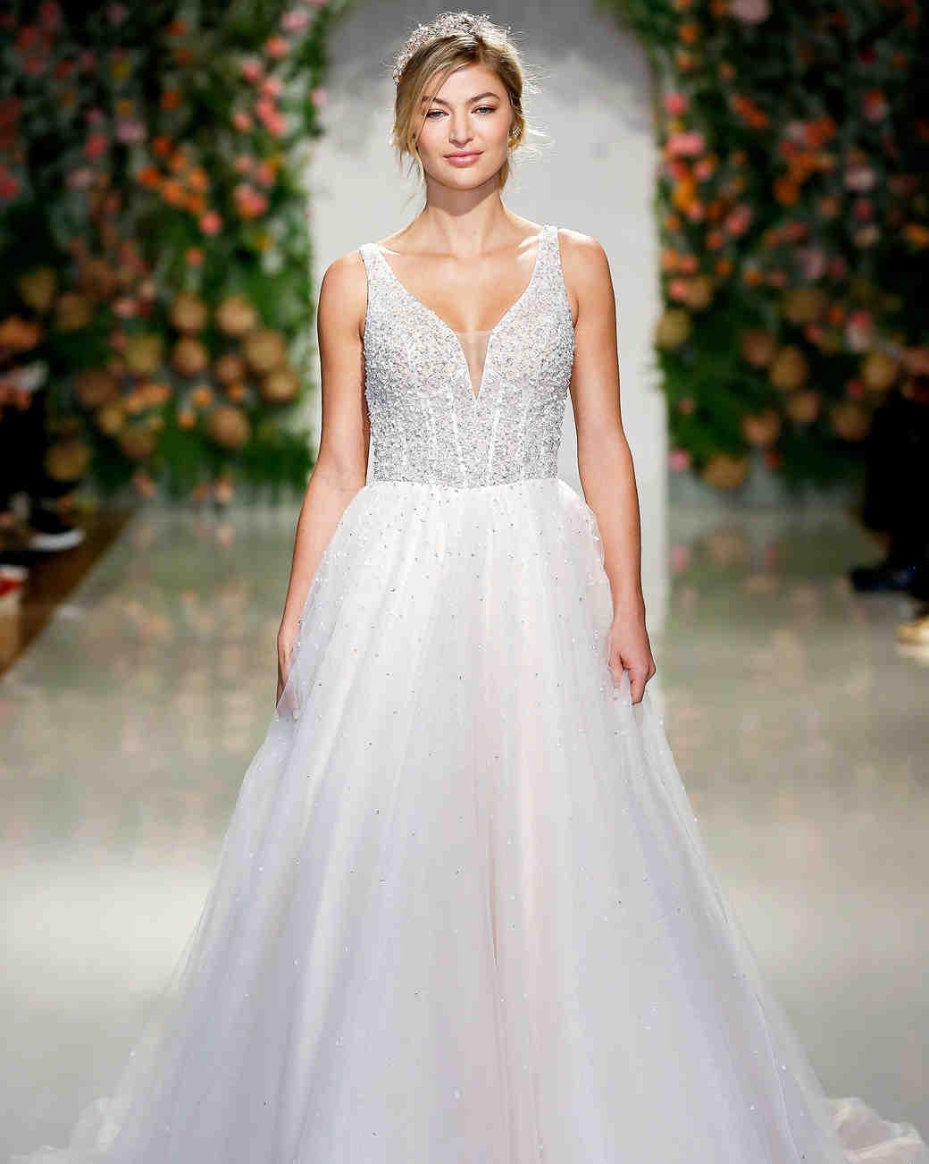 morilee madeline gardner wedding dress ball gown with beaded bodice