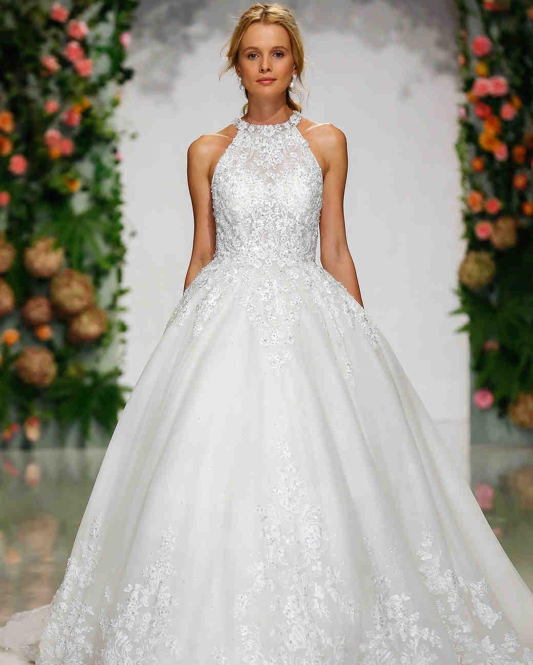 morilee madeline gardner fall 2019 halter top lace ballgown