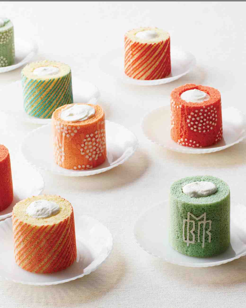 Green and Orange Japanese Sponge Roulades