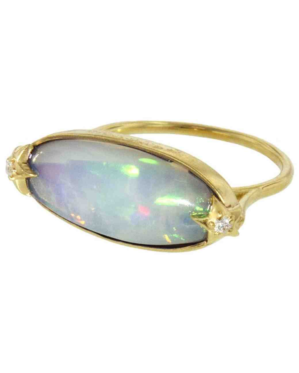 opal engagement ring andrea fohrman star ring