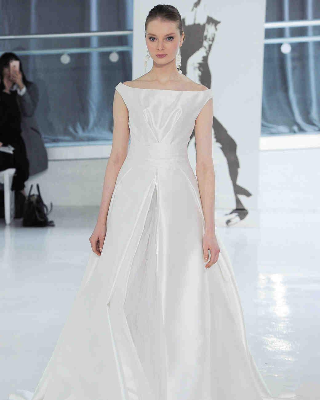 off the shoulder peter langner wedding dress spring 2018