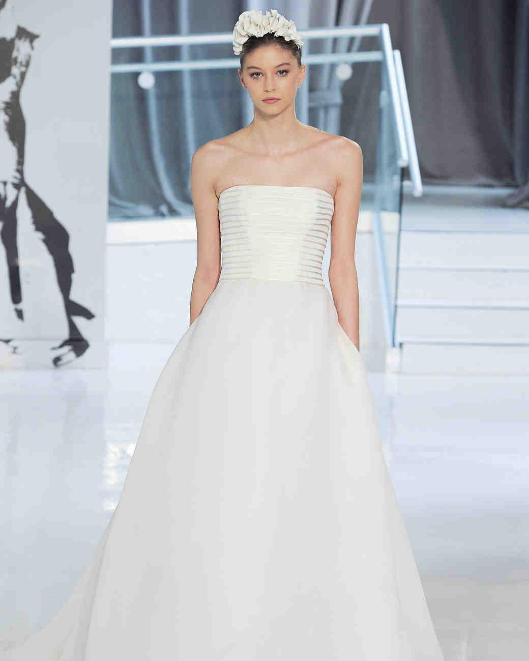 no shoulder peter langner wedding dress spring 2018