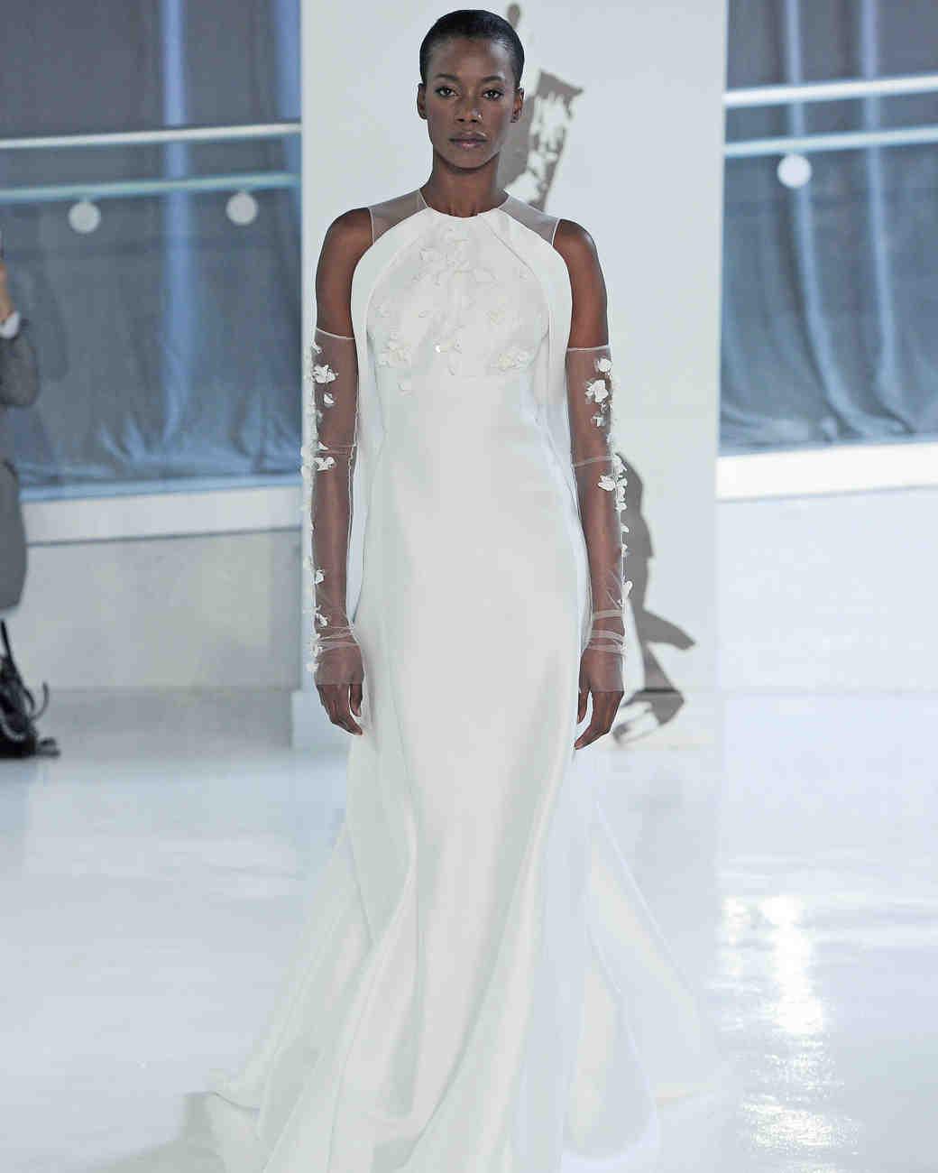 sheath peter langner wedding dress spring 2018