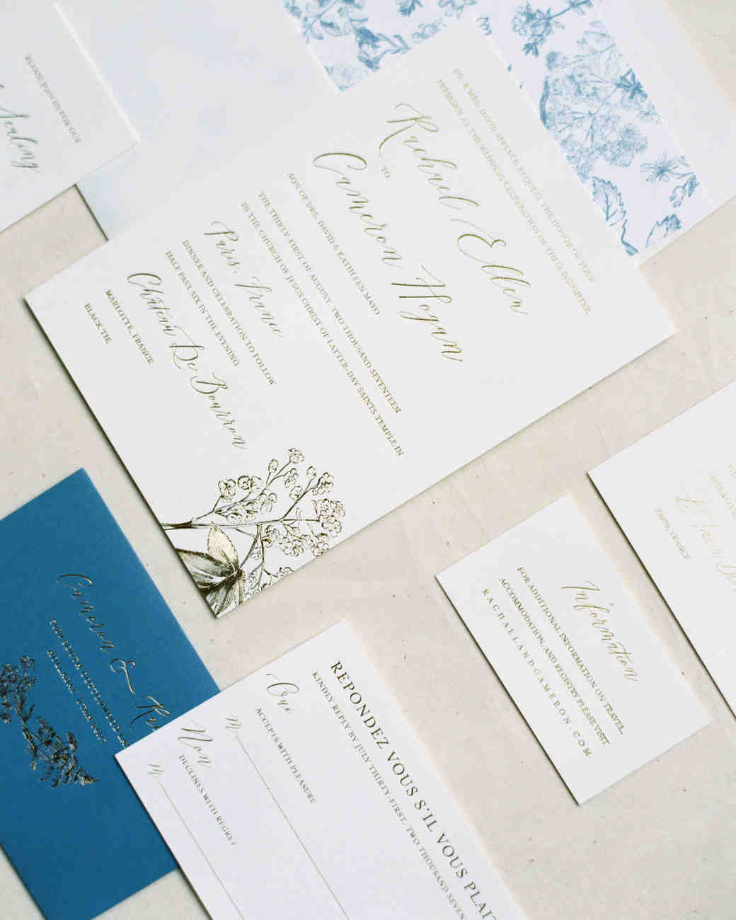 rachael cameron wedding invitation