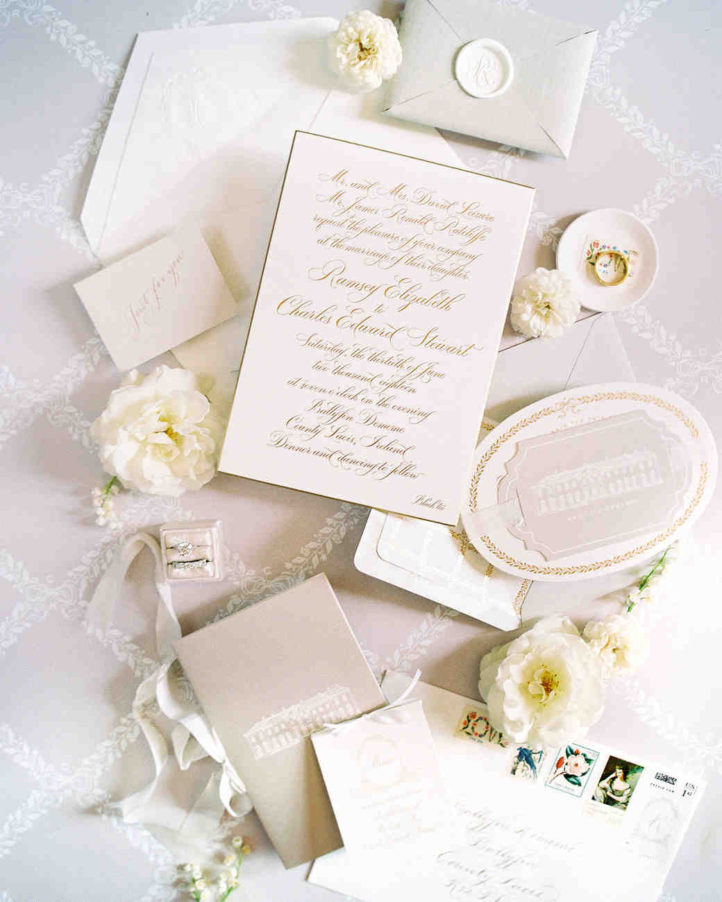 ramsey charles ireland wedding invitation stationary