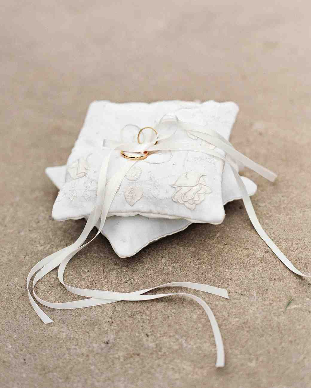 16 stylish wedding ring pillows | martha stewart weddings