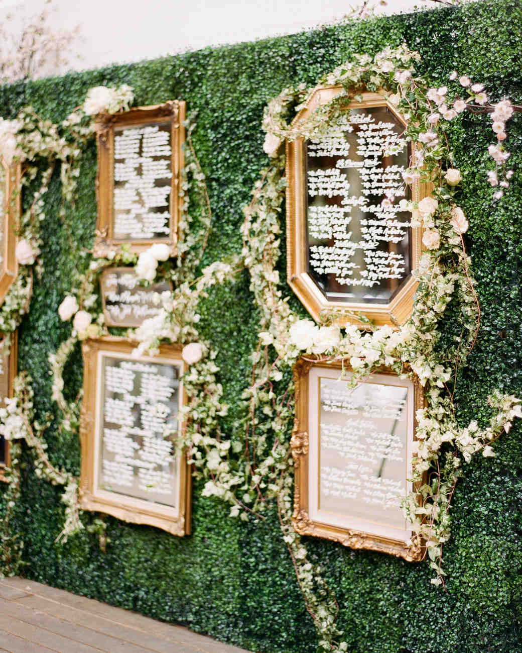 15 Outdoor Wedding Ideas That Are Totally Genius: 25 Unique Wedding Seating Charts To Guide Guests To Their