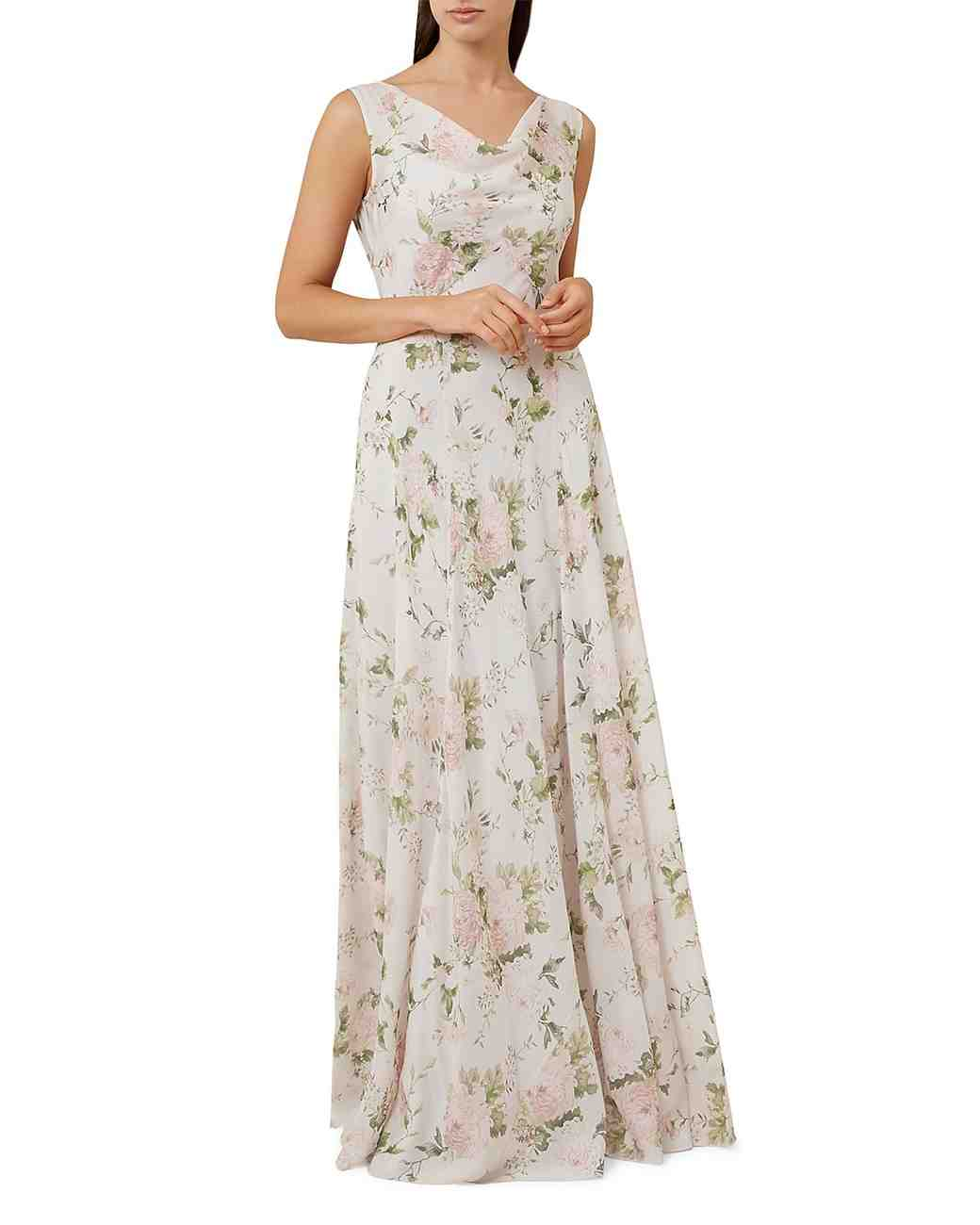 Silk Mother of the Bride Dress, Hobbs London Floral Gown