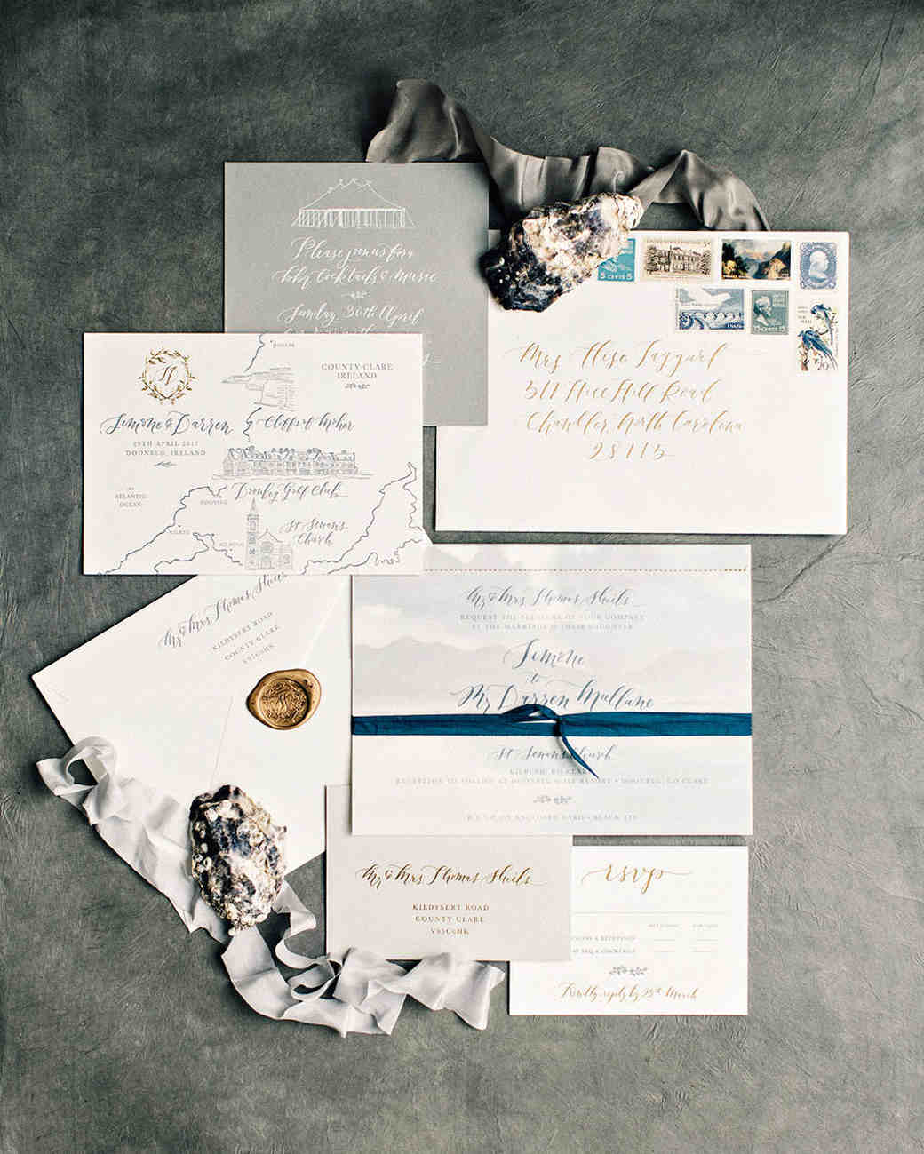 simone darren wedding ireland stationery