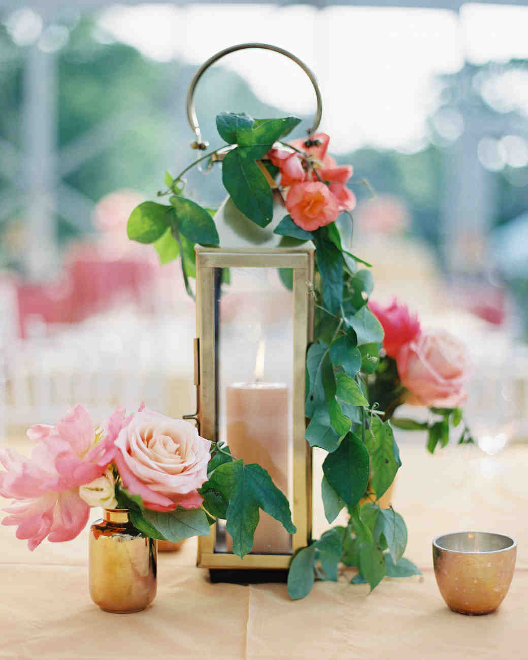 39 simple wedding centerpieces martha stewart weddings candle wedding centerpiece junglespirit Images
