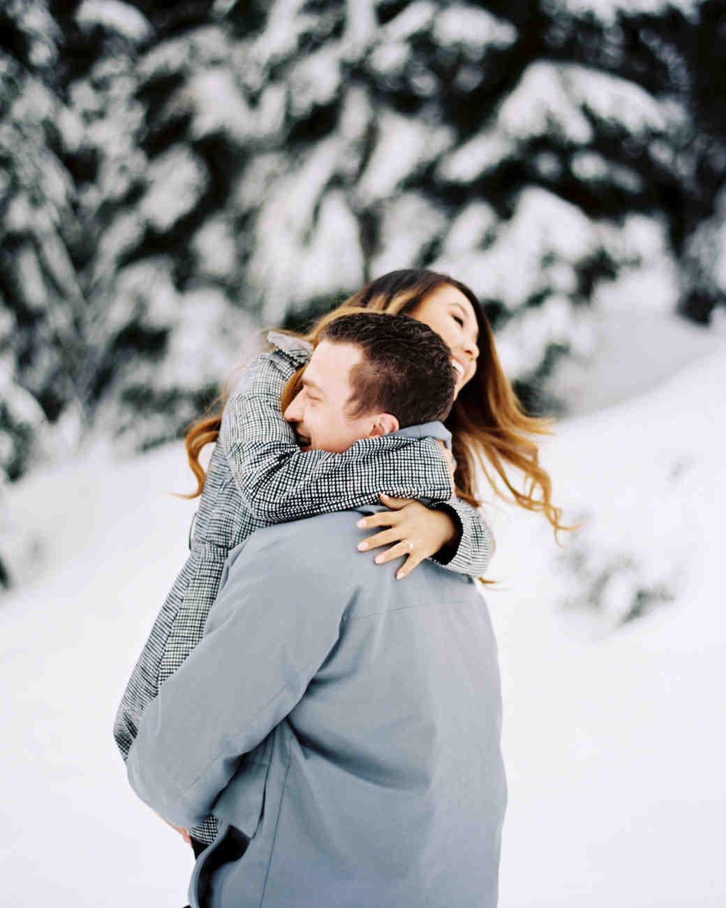 4f6cadaee2045 25 Snowy Engagement Photos to Inspire Your Own | Martha Stewart Weddings