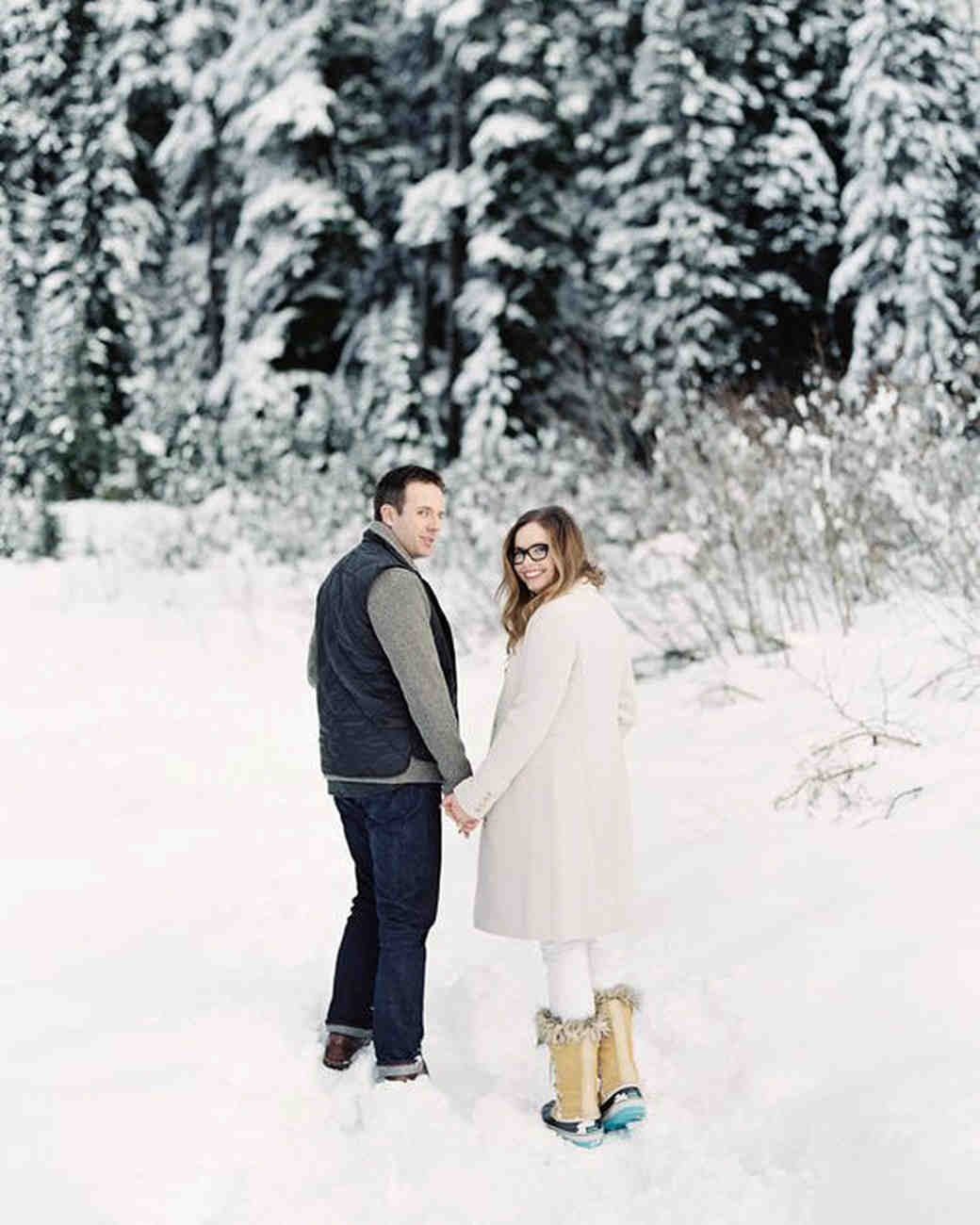 25 Snowy Engagement Photos To Inspire Your Own Martha Stewart Weddings