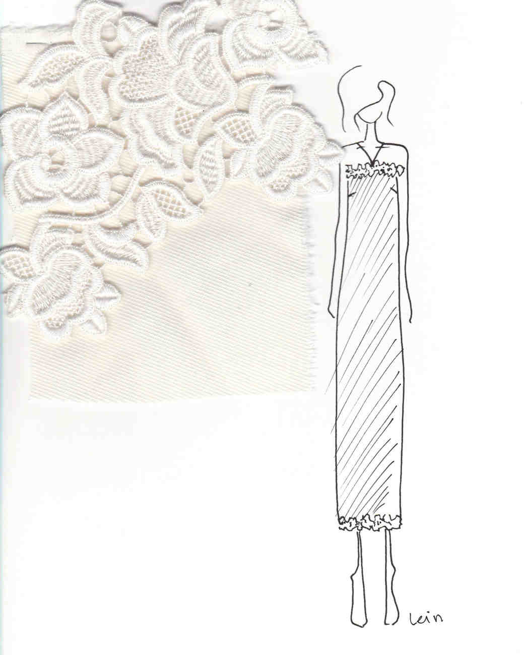 lein wedding dress sketch