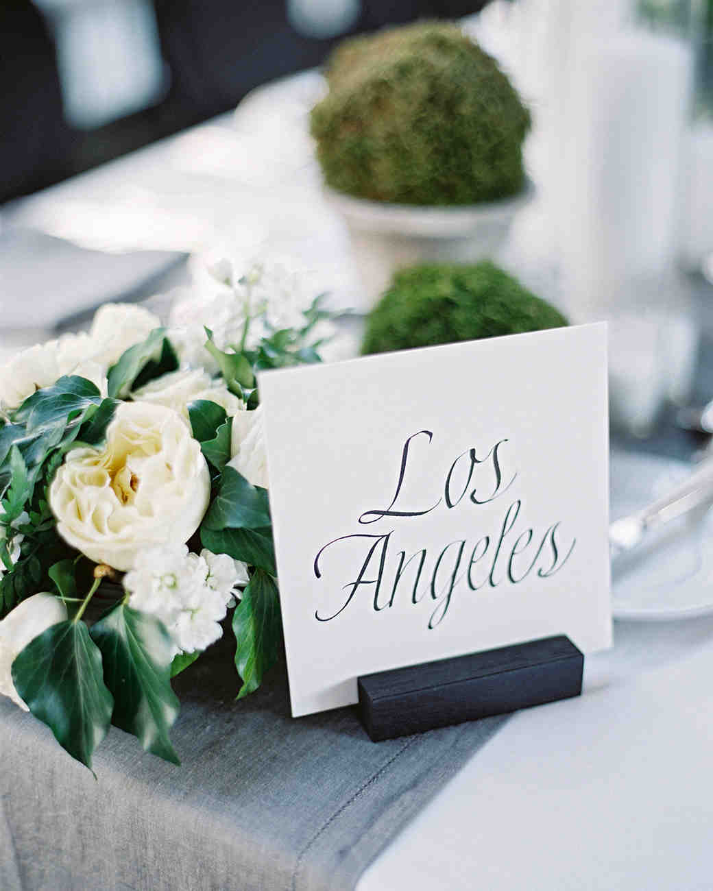 stephanie matt wedding reception table name
