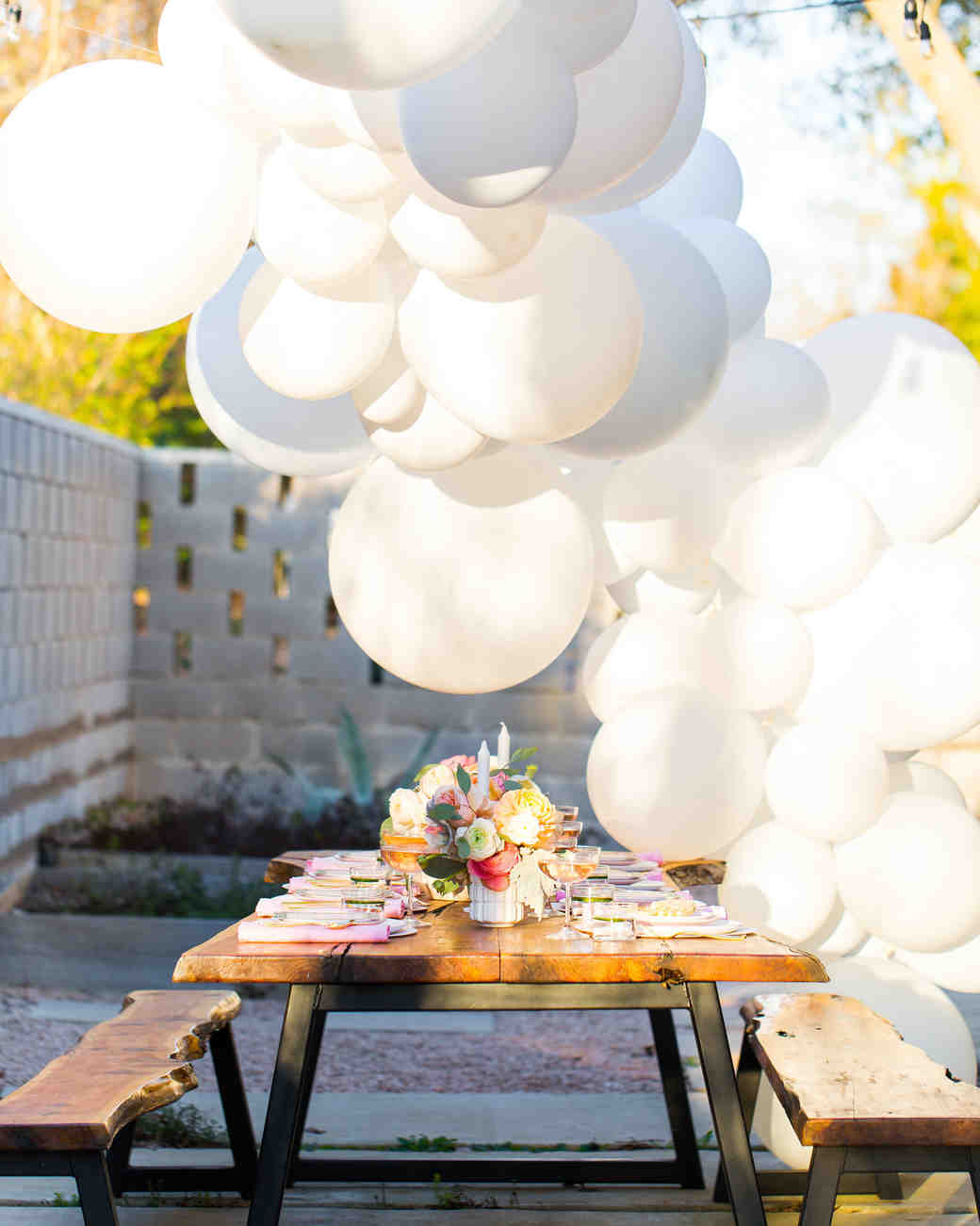 sugar cloth bridal shower balloons