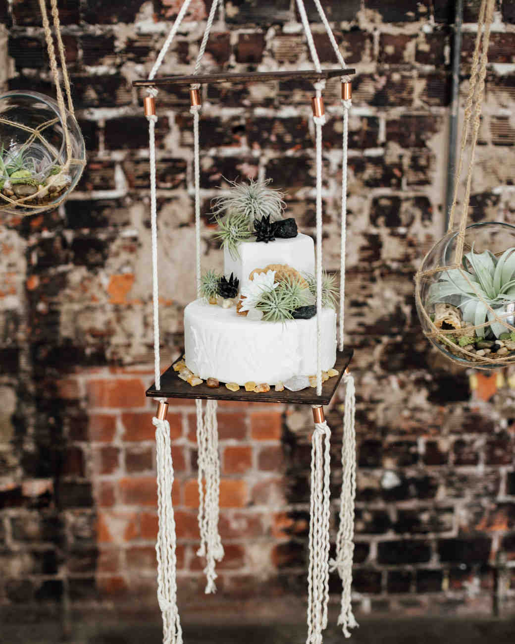suspended wedding cake tables monika gauthier